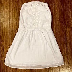 Women's strapless cotton dress